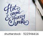 hot cocoa and fuzzy socks... | Shutterstock . vector #522546616