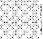 Seamless Circle Pattern. Vector Monochrome Dots Background. Abstract Grid Ornament. Pixel Graphic Design. Modern Textile Tracery