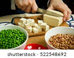 young woman eating calcium rich ... | Shutterstock . vector #522548692