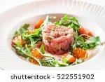 tuna tartare | Shutterstock . vector #522551902