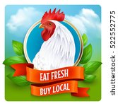 local organic poultry farm... | Shutterstock .eps vector #522552775