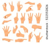 set of hands in different... | Shutterstock .eps vector #522552826