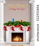 christmas and new year greeting ... | Shutterstock .eps vector #522552856