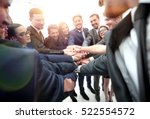 large business team showing... | Shutterstock . vector #522554572