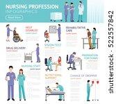 healthcare flat infographics... | Shutterstock .eps vector #522557842