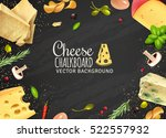 delicious cheese background... | Shutterstock .eps vector #522557932