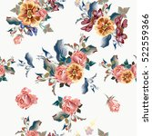 beautiful floral pattern with... | Shutterstock .eps vector #522559366