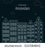 linear houses amsterdam black | Shutterstock .eps vector #522584842