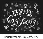 merry christmas written in... | Shutterstock .eps vector #522592822