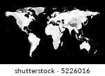 world map with grayscale... | Shutterstock . vector #5226016