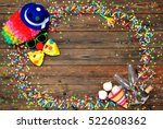 colorful carnival background... | Shutterstock . vector #522608362