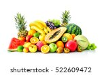 assortment of exotic fruits... | Shutterstock . vector #522609472