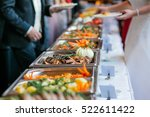 food wedding catering  | Shutterstock . vector #522611422