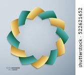 3d round symmetrical islamic... | Shutterstock .eps vector #522621652