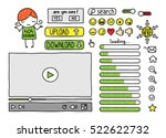 collection of doodle web...   Shutterstock . vector #522622732