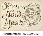 happy new year. head of santa...   Shutterstock .eps vector #522625012