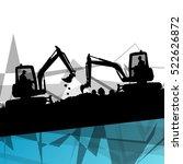 digger excavator machinery... | Shutterstock .eps vector #522626872