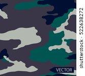 vector camouflage pattern... | Shutterstock .eps vector #522638272
