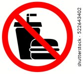 no food allowed symbol ... | Shutterstock .eps vector #522643402