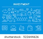 line design concept horizontal... | Shutterstock .eps vector #522644626