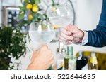 close up crop hands clinking... | Shutterstock . vector #522644635