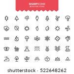 minimalistic thin line nature...   Shutterstock .eps vector #522648262