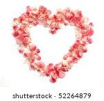 Flower Petals Forming A Heart...