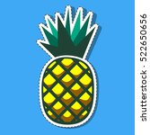 pineapple vector isolated on... | Shutterstock .eps vector #522650656