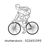 bicyclist. | Shutterstock .eps vector #522651595