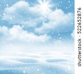 winter background. winter... | Shutterstock . vector #522652876