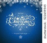 christmas typography ... | Shutterstock .eps vector #522659545