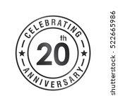 twenty anniversary celebration... | Shutterstock .eps vector #522665986