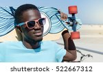 happy young man outdoors...   Shutterstock . vector #522667312