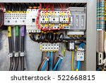 electrical panel at a assembly... | Shutterstock . vector #522668815