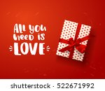 color vector gift box with... | Shutterstock .eps vector #522671992