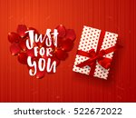 color vector gift box with... | Shutterstock .eps vector #522672022
