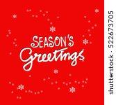 Seasons Greetings. Hand...