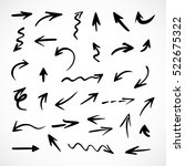 hand drawn arrows  vector set | Shutterstock .eps vector #522675322