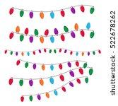 christmas light set vector | Shutterstock .eps vector #522678262