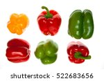 colored peppers on white... | Shutterstock . vector #522683656