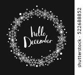 hello december. print design   Shutterstock .eps vector #522688852