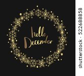 hello december. print design | Shutterstock .eps vector #522688858