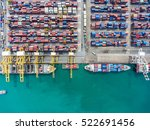 container container ship in...   Shutterstock . vector #522691456