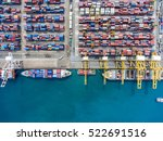 container container ship in... | Shutterstock . vector #522691516
