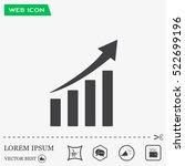 vector growing graph icon | Shutterstock .eps vector #522699196