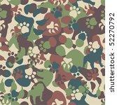 dog camouflage pattern   Shutterstock .eps vector #52270792