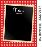 A Menu Card Chalkboard On...