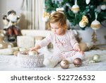 adorable little girl playing... | Shutterstock . vector #522726532
