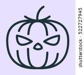 halloween pumpkin jack o'... | Shutterstock .eps vector #522727945