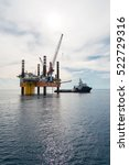 image of oil platform while... | Shutterstock . vector #522729316